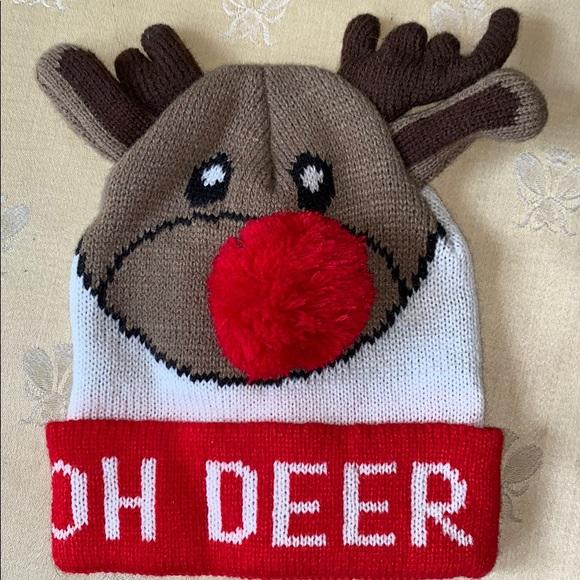 Other - FINAL PRICE - NWOT Kids Reindeer knit hat